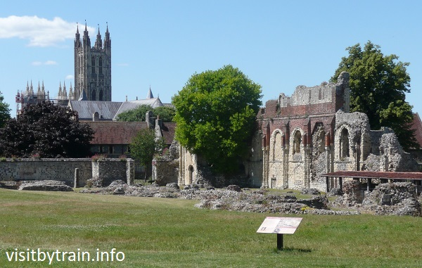 Photograph of Canterbury, St Augustine's Abbey with Cathedral in background